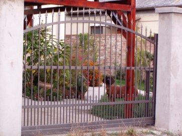 Kovácsoltvas kerítés Csopak
