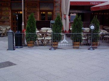 Kovácsoltvas korlát teraszra Budapest