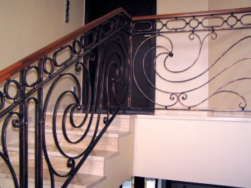 Kovácsoltvas lépcső korlát