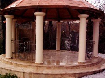 Kovácsoltvas kétszárnyú kapu Solymár